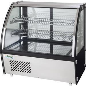 Espositore/Vetrina refrigerato Forcar da banco con vetro curvo Dim. cm L 70,5 x P 46 x h 67 Modello VPR100 (+2 +8°C)